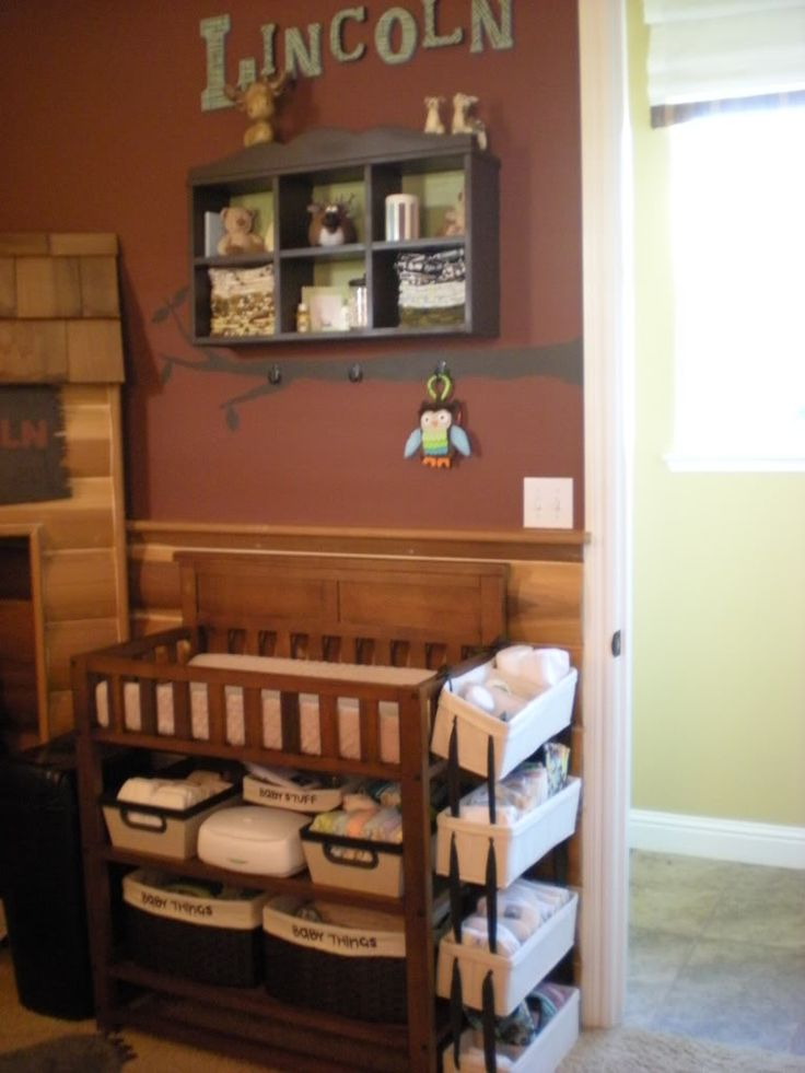 diaper changing station for small space