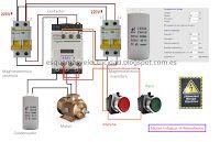 Esquemas eléctricos: Esquema electrico de motor trifasico a monofasico