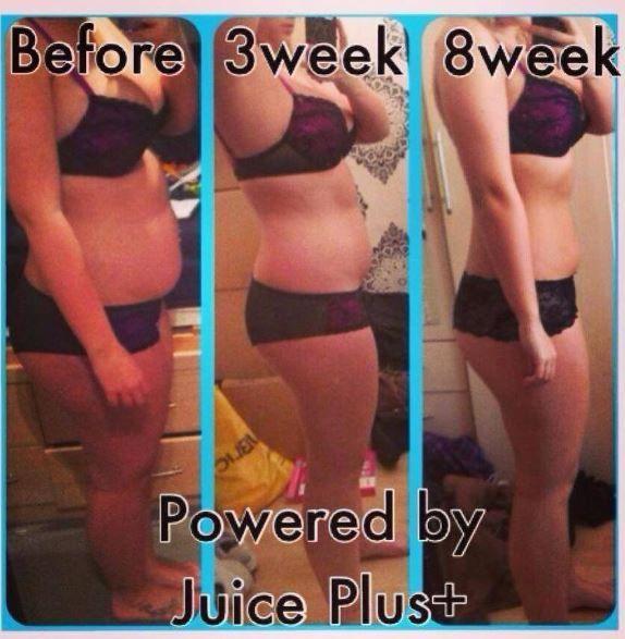 Complete Transformation - Before 3 weeks and 8 weeks on Juice Plus+ http://shelbymeyer.juiceplus.com