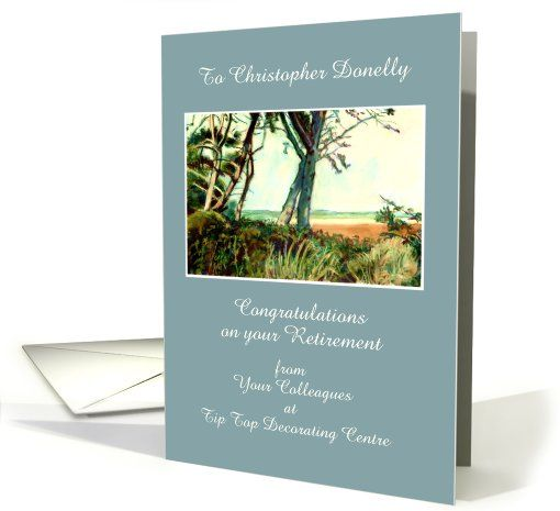 Customizable Retirement Congratulations Card - Norfolk Beach: up to $3.50 - http://www.greetingcarduniverse.com/congratulations-cards/retirement/for-coworker/customizable-retirement-congratulations-card-881407?gcu=43752923941