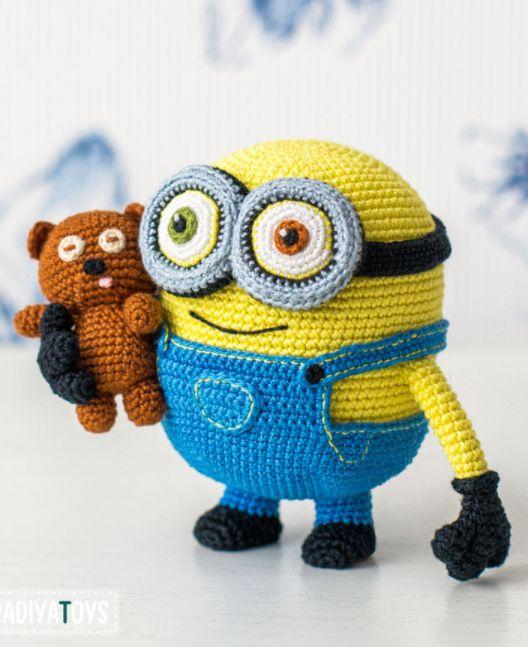Amigurumi: Minion Bob und Teddy aus Minions zum Häkeln - Häkelanleitung via Makerist.de