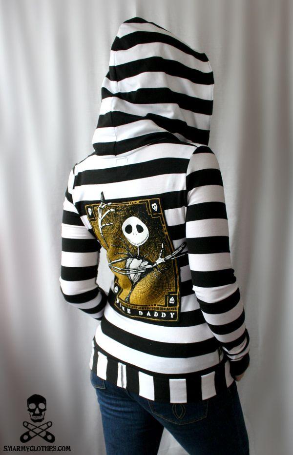 Jack Skellington Hoodie by smarmy-clothes.deviantart.com on @deviantART