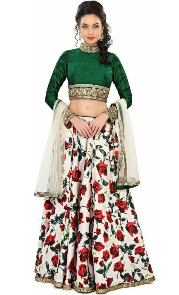 b826486cde Fabviva Multicolor Floral Printed Lehenga #Lehenga, #Floral, #Multicolor, # Printed | Lehenga | Lehenga, Floral lehenga, Dresses