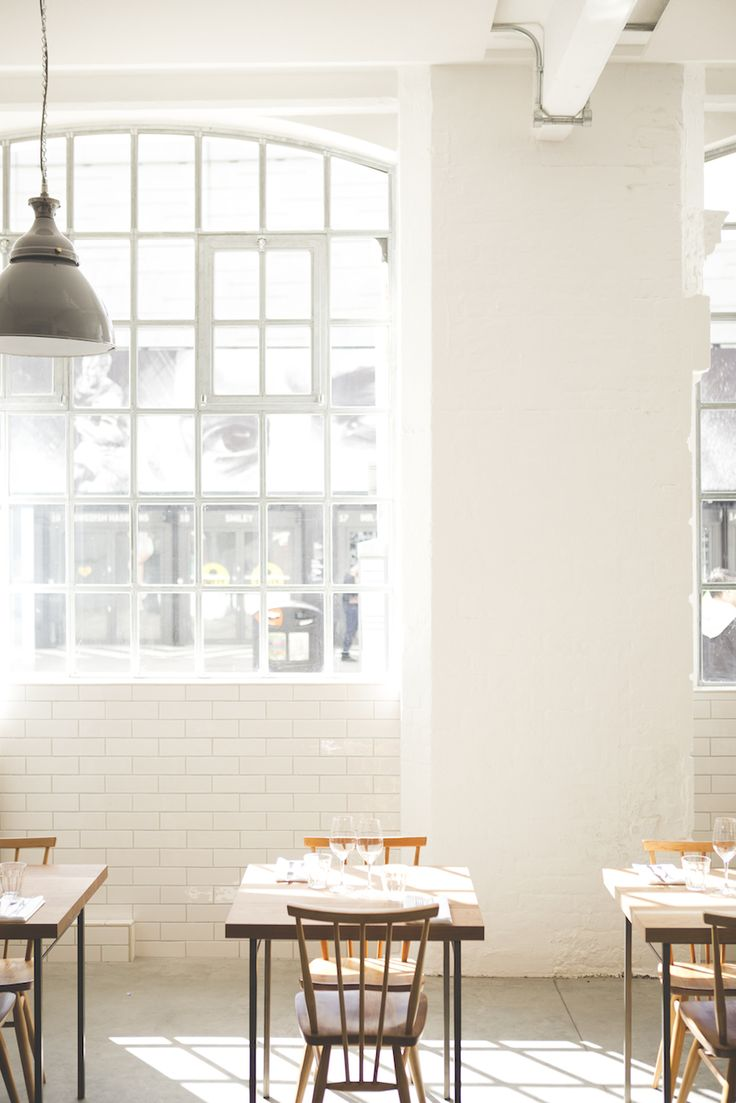 Vegan-friendly Lyle's restaurant, London | coffee and baked goods for breakfast, and British menu for lunch and dinner, in Shoreditch's Tea Building