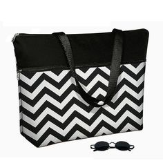 Chevron Laptop Tote Bag / 17 inch Laptop Bag by janinekingdesigns