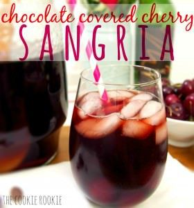 I am so making this for Valentines Day! Chocolate Covered Cherry Sangria.