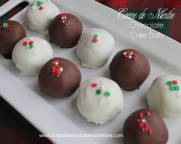 Creme de Menthe Chocolate Cake Balls-for the adults!