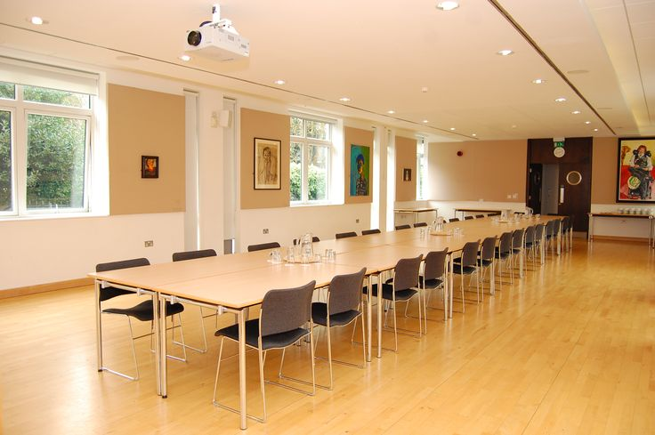 The light-filled Long Room is perfect for meetings.