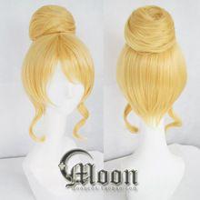 Liefde live! Ayase eli cosplay pruik anime pruiken met broodje blonde lolita synthetisch haar lovelive(China (Mainland))