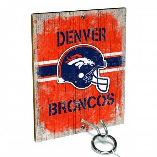 Team Toss for Denver Broncos fans from Team ProMark is a fun and addictive game that's easy to learn but difficult to master. Toss the ring on the eye hook and score a point. The vintage team board designs make a great addition to any fan cave or game room wall. Play individually or pair up for teams while the gang is over watching the game.