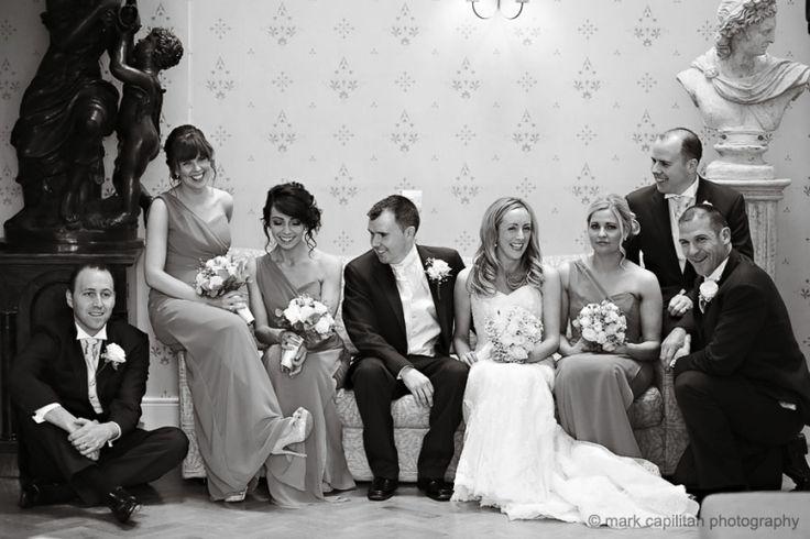 Indoor bridal party portrait Castle Dargan Ireland wedding photographer Sligo