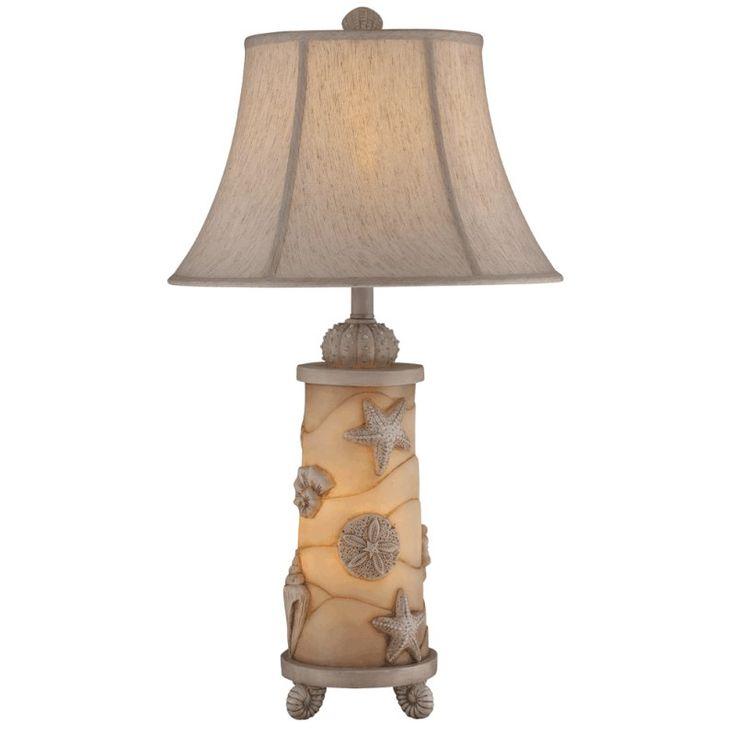 seashell decor   Seashell Night Light Table Lamp - Beach Decor Shop