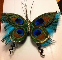 Diy peacock decorations for christmas - Google Search