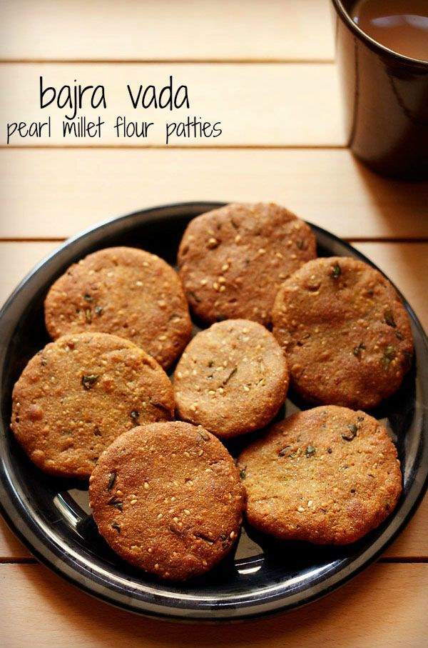 gujarati bajra vada recipe - crisp and soft patties made from pearl millet flour.  #bajra #vada