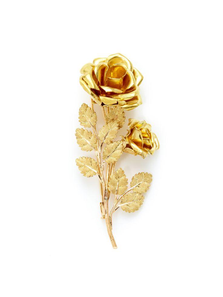 Buccellati Buccellati Gold Double Rose Brooch