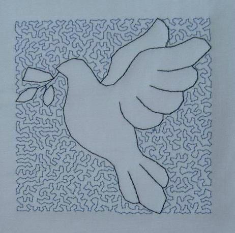 colombe bleue