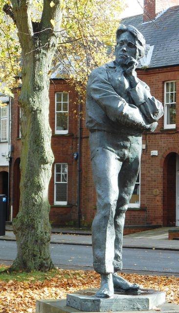 Rupert Brooke statue, Regent's Place Rugby