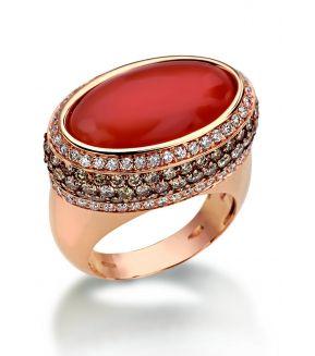 Luca Carati | Diamond and Moonstone Ring