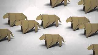 origami jaguar - YouTube