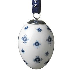 Royal Copenhagen Egg - Blue Fluted Flower