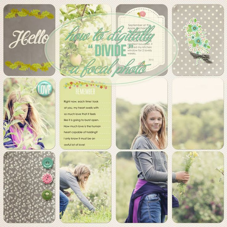 """Dividing"" a Photo into 4 Project Life Pockets Digitally ... a Photoshop Tutorial | Jenn McCabe"