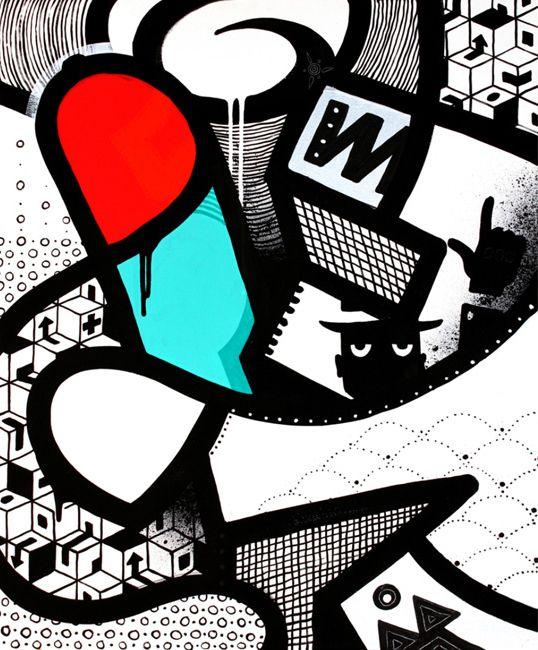 MAMBO http://www.widewalls.ch/artist/mambo/ #graffiti #murals #streetart #urbanart