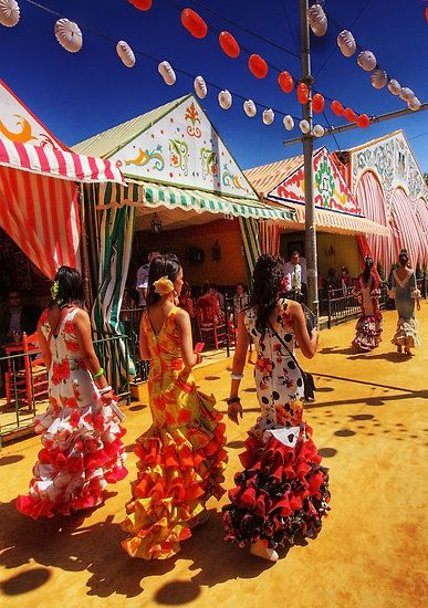 Feria de Abril! Come and celebrate one of the many Spanish festivals with us! A total immersion into the Spanish Culture. Learn and improve your Spanish with the whole family is a pretty local town in the South of Spain. We also organise proper accommodation and all sorts of activities.  www.spanish-school-herradura.com