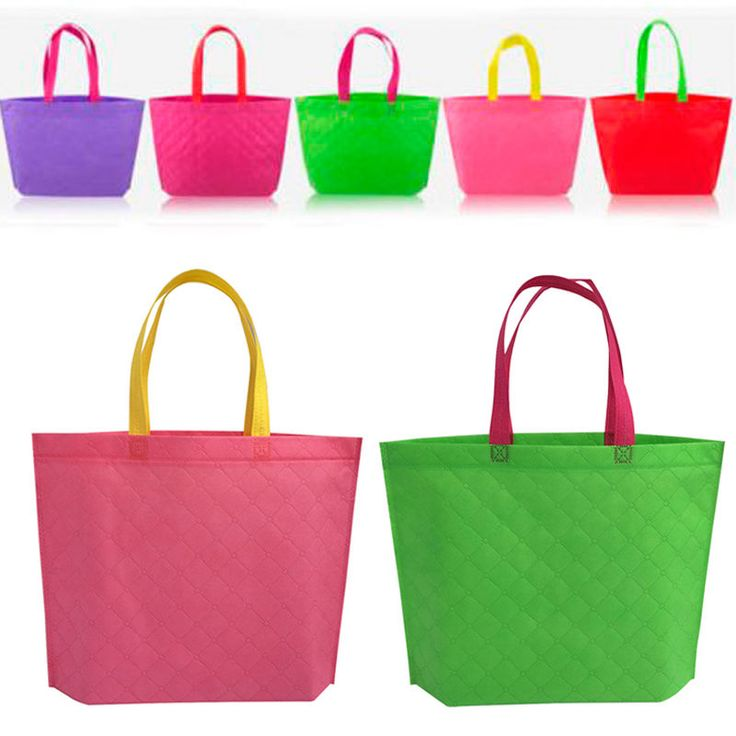 Portable Women Girls Fabric Handbag Shoulder Recycle  BagS Eco Shopping  Totes #Unbranded