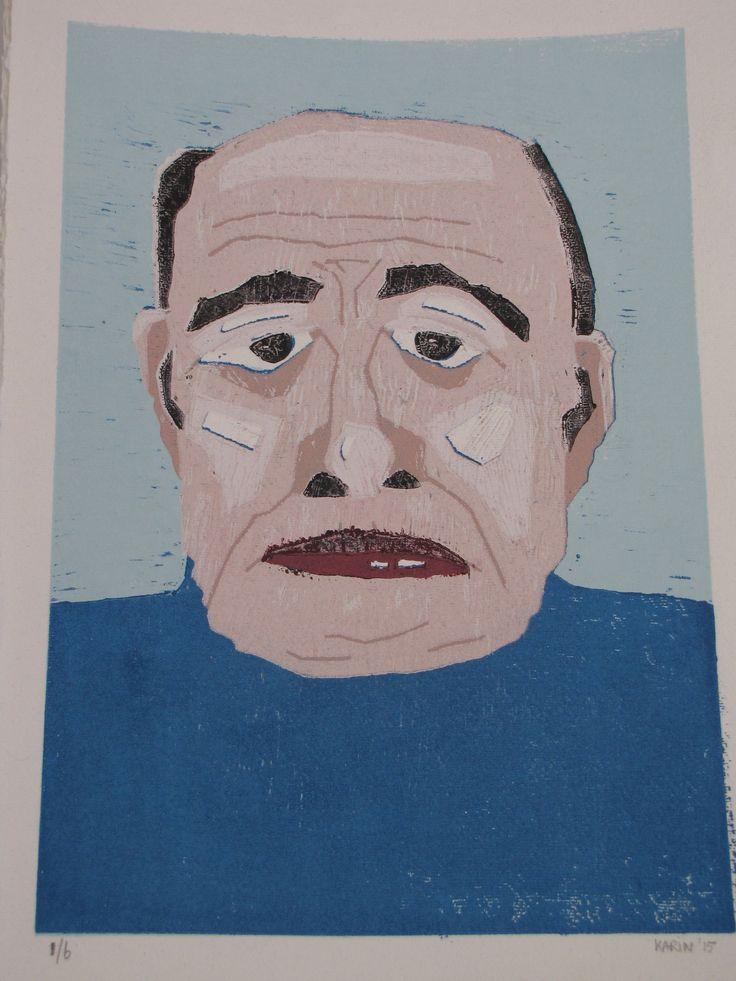 oude man, ino in meerdere kleuren gedrukt