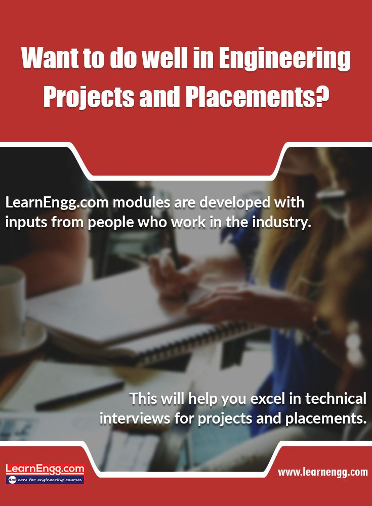 Learnengg.com modules are developed with inputs from people who work in the industry. This will help you excel in technical interviews for projects and placements. [Click on the image] #3dm #learnengg #3d