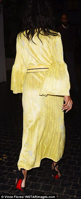 The brighter the better! The fashion-forward ex-girlfriend of Chris Brown wasn't afraid to stand out from the crowd as she wowed in the kimono style number