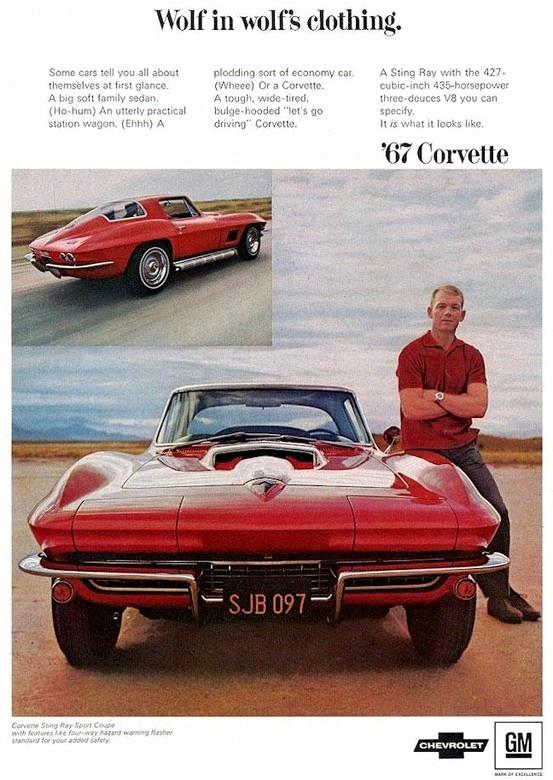 63 Split Window Corvette >> Corvette Ad, 1967 | Vintage Corvette Ads | Pinterest | Love it, Love and Corvettes