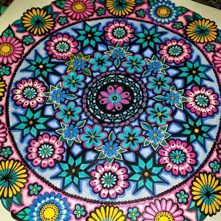 17 Best Mandala Circle Secret Garden Mandala Circulo