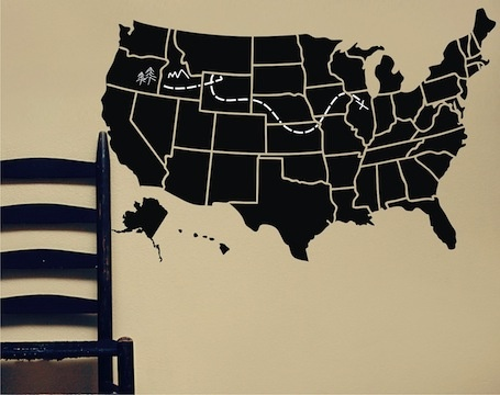 chalkboard usa map map of the united states of america lola decor etsy