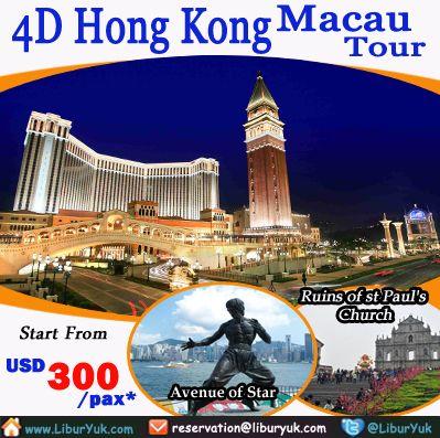 Ingin jalan-jalan ke Hong Kong sekaligus Macau? Kini gak pakai mahal,saat ini kami sediakan paket 4 Hari #Hongkong #Macau #Tour. Anda akan diajak berkeliling ke kedua kota tersebut dalam sekali berlibur,  Dapatkan Spesial Paket tersebut dari LiburYuk http://liburyuk.com/promotional-package/book/75594440/4D-HONGKONG-MACAU-TOUR #AbbeyTravel #jalan2 #holiday