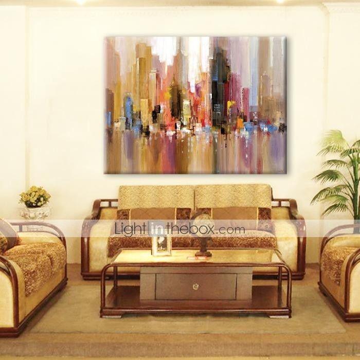 картина маслом современный абстрактный пейзаж ручной росписью холст с растянутой оформлена 2016 - $56.69