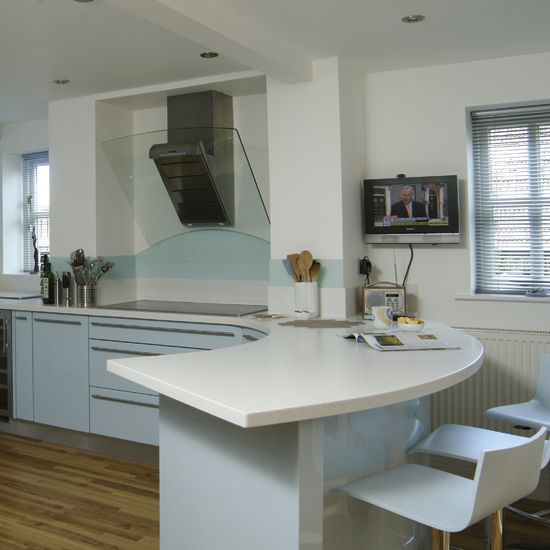Kitchen designs with a curved bar area 25 modern kitchen for Island in small galley kitchen