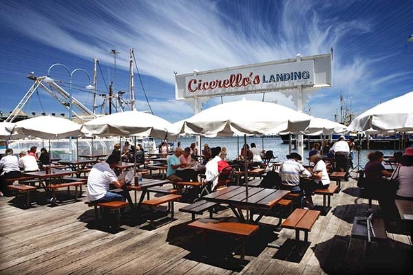 A beautiful day on the landing at Cicerello's Fremantle.