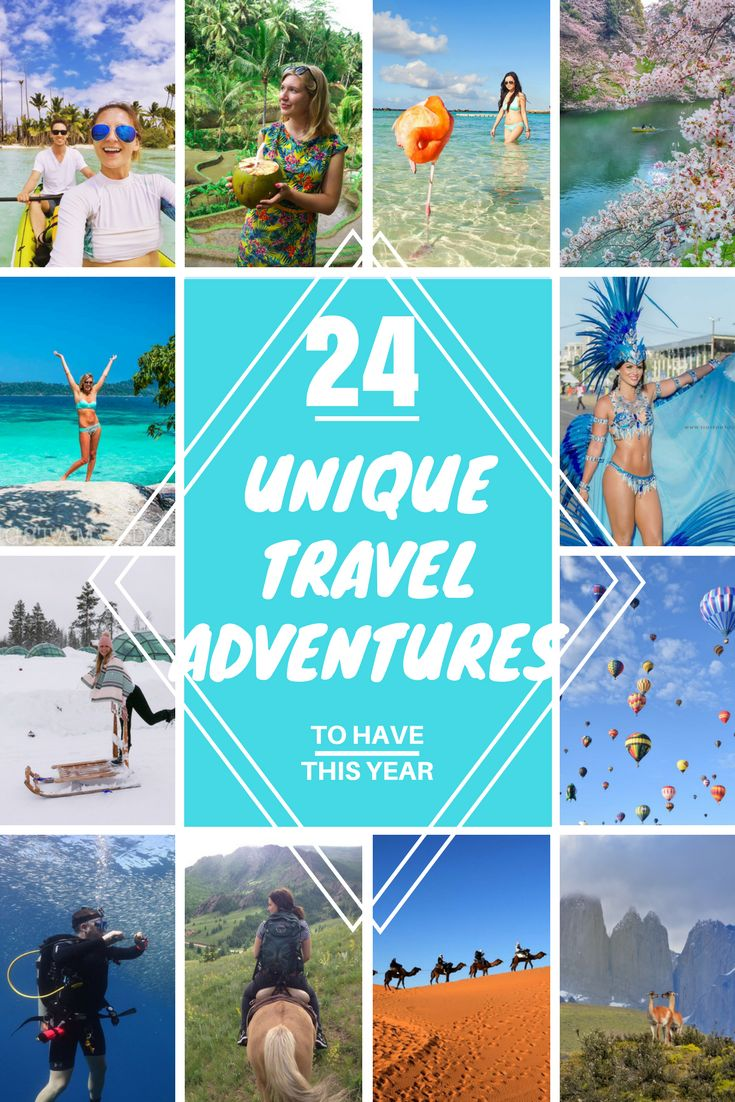 Is your New Year's resolution to be more adventurous? Here is your list of Top 24 unique travel adventures to try this year!