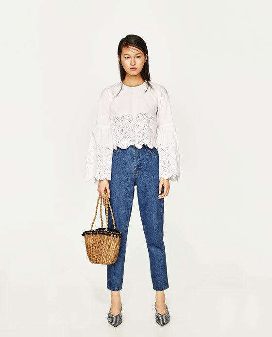 ZARA - WOMAN - TOP WITH TIED DETAIL