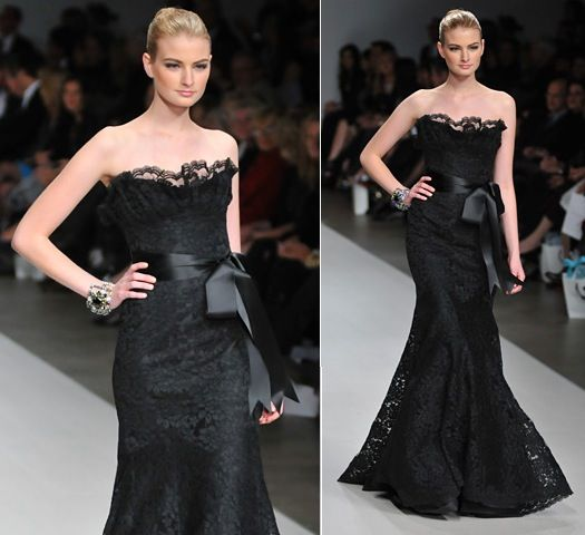 Romona Keveza black lace dress