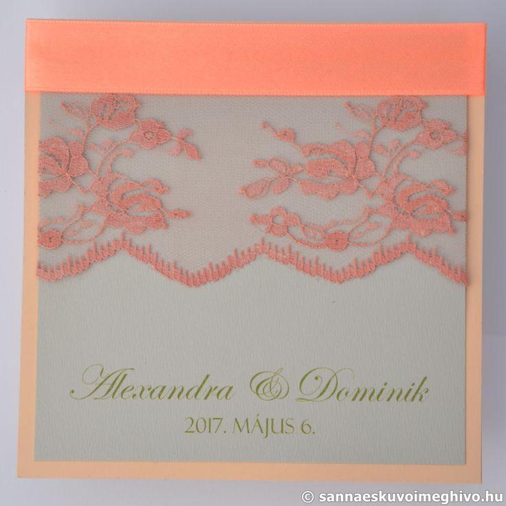 Liliom esküvői meghívó, meghívó, csipkés esküvői meghívó, rózsaszín esküvői meghívó, sannaeskuvoimeghivo, egyedi esküvői meghívó, wedding card