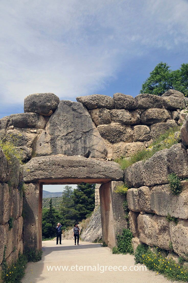 The verso of the Lions' Gate, Ancient Mycenae, Greece.    Check us out before you  book your next great vacation, you will love our ideas! Please visit us on  www.eternalgreece.com for inspiration, information, itinerary suggestions and  fabulous tour arrangements to #Greece.        #travel #holidays #vacations #archaeology #mythology #tours  #itineraries #holidays #culture #wine  #food #mythology #tours #itineraries #roadtrip #architecture #photography  #greecetravel