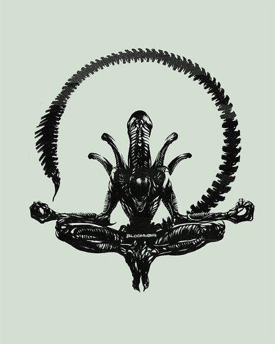 "Found via Facebook with the caption ""Monster Deities & Demigods.""  Cthulhu meets Alien?"