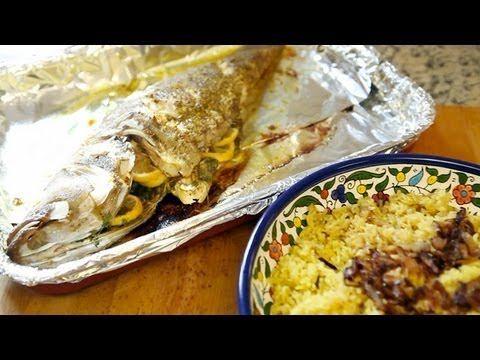 Zahra's Kitchen: Hammour and Onion Rice