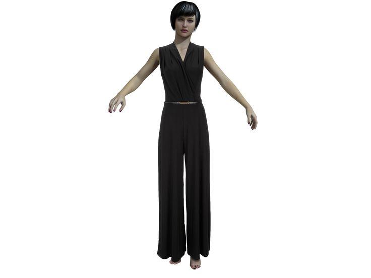 Jumpsuit drape (Jersey fabric) Free pattern by AdamNEve
