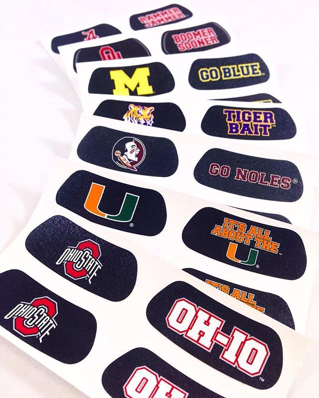 Be true to your school in our eye black stickers custom made with your colleges logo