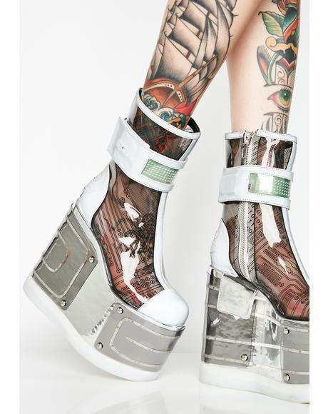 d09147177ac Motherboard Platform Boots  dollskill  platform  boots  silver  clubexx   playa