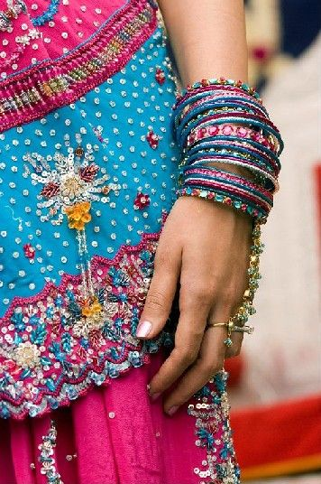 Just love the bright colors....#bohemian #Indian #bangles