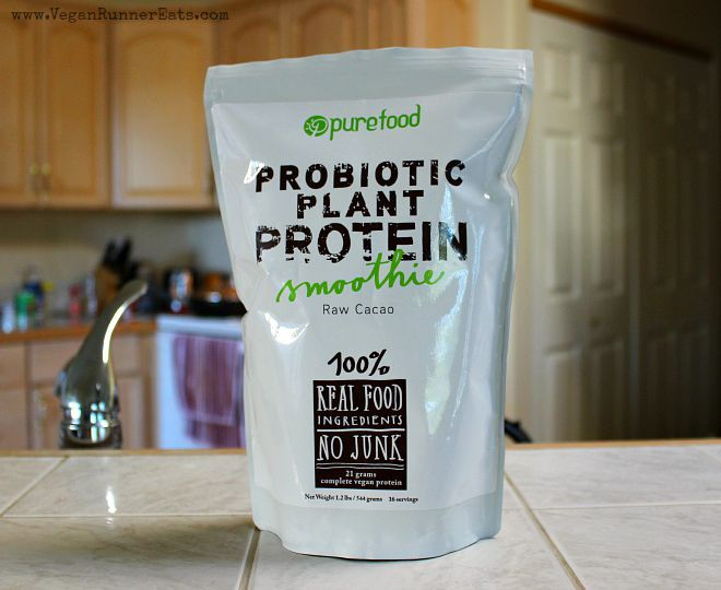 PureFood Probiotic Plant Protein review and giveaway - a new plant-based protein powder with all organic ingredients, made by a small startup company in Michigan! I'm reviewing and giving away a full-size bag of this stuff until July 30th, check it out!